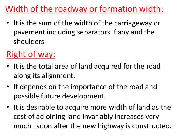 Median/ separator 4-lane divided carriage way or dual carriage way