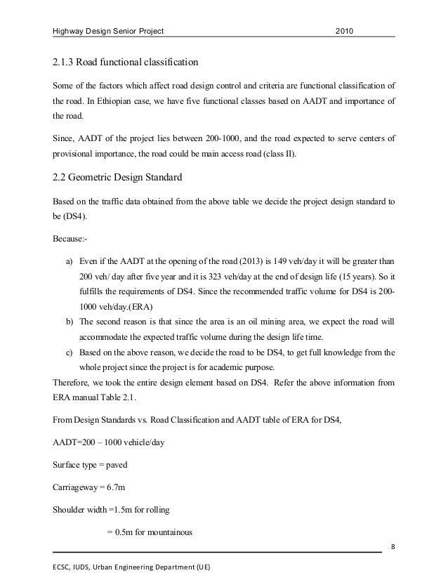 Highway design raport(final) (group 2)