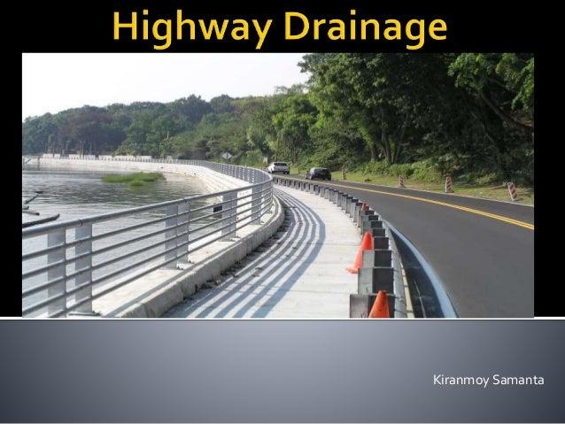 Highway Drainage (Highway Engineering)