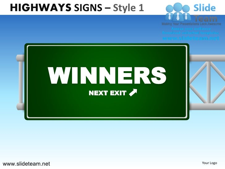 highway freeway exit signs billboards signs design 1 powerpoint ppt t