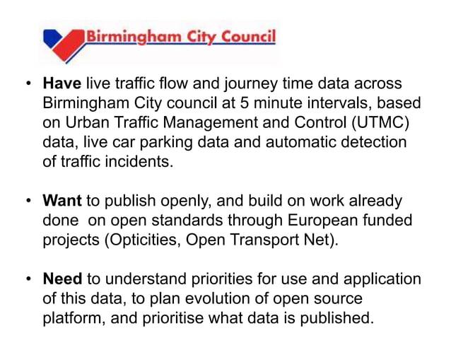 5 prototype solutions 1. Birmingham City Open Data Under Threat 2. HS2 HGV Traffic Heat Map 3. Brake-Thru 4. A Breath of F...