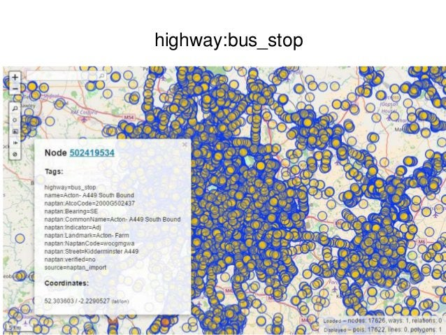 Summary • Share highways asset condition and inventory data in multiple ways, including Open Street Map (lat/long georefer...