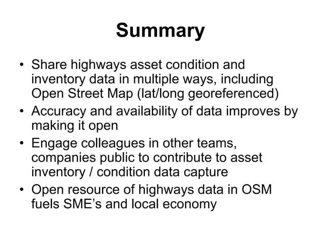 Highways Asset Management in Birmingham LoTAG 17 March 2017