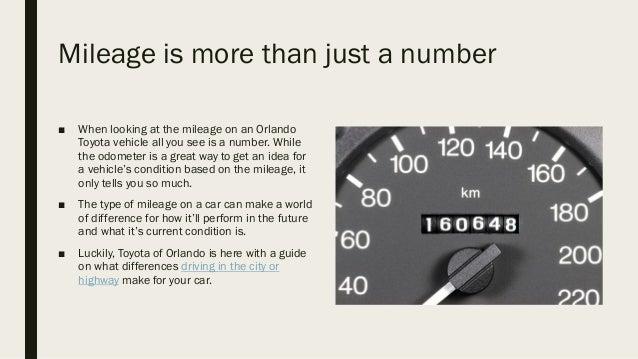 Highway miles vs city miles