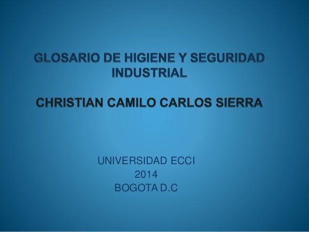 UNIVERSIDAD ECCI  2014  BOGOTA D.C