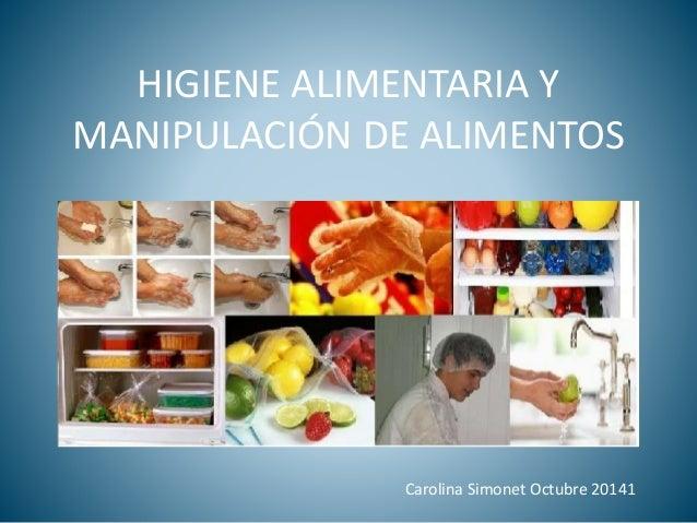 Higiene alimentaria y manipulaci n de alimentos for Manual de buenas practicas de higiene y manipulacion de alimentos
