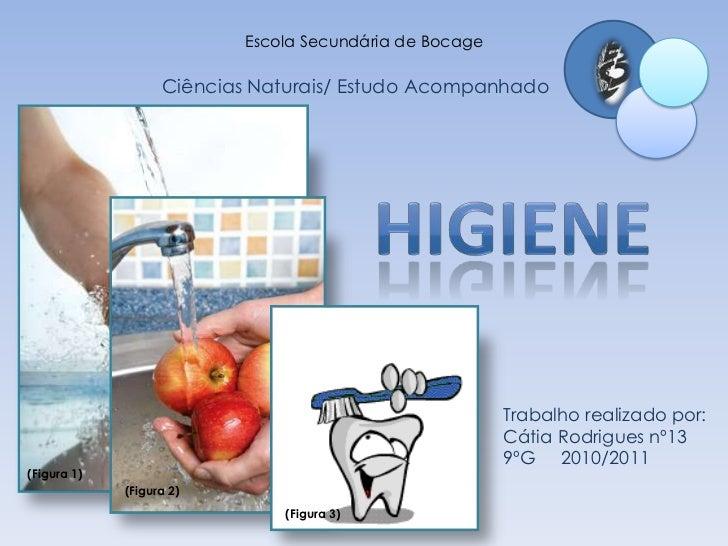 Escola Secundária de Bocage<br />Ciências Naturais/ Estudo Acompanhado<br />Higiene<br />Trabalho realizado por: <br />Cát...
