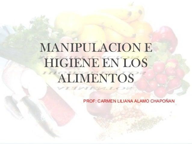 PROF: CARMEN LILIANA ALAMO CHAPOÑAN