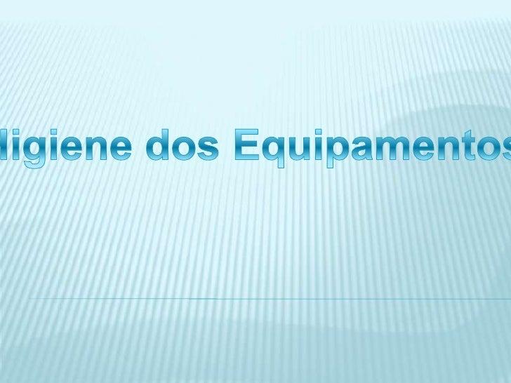 Todos os equipamentos e superfícies de trabalho deve, ser dispostos de               forma a apresentarem as superfícies l...