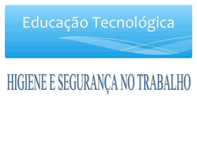 Educação Tecnológica