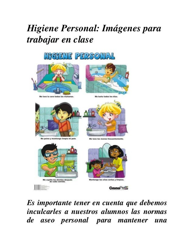 ¿Como enseñar la Higiene personal a niños de Educación