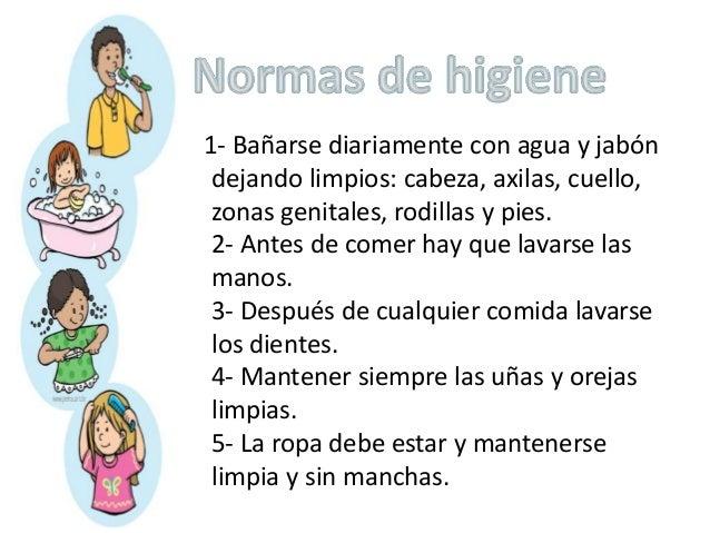 Higiene personal en preescolar for Cuales son las caracteristicas de la oficina