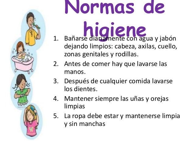 Higiene personal en preescolar for Normas de higiene personal en la cocina