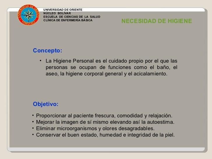 Higiene corporal en el paciente unidad 8 for Concepto de oficina y su importancia