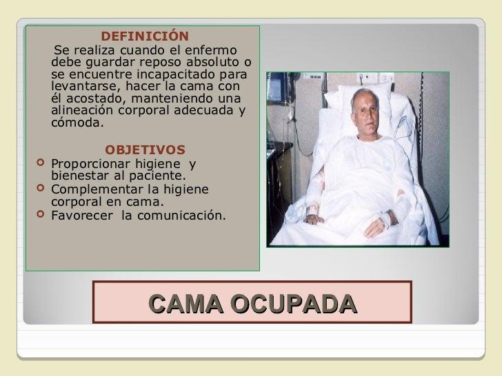 Higiene y confort 2012 for Cama ocupada