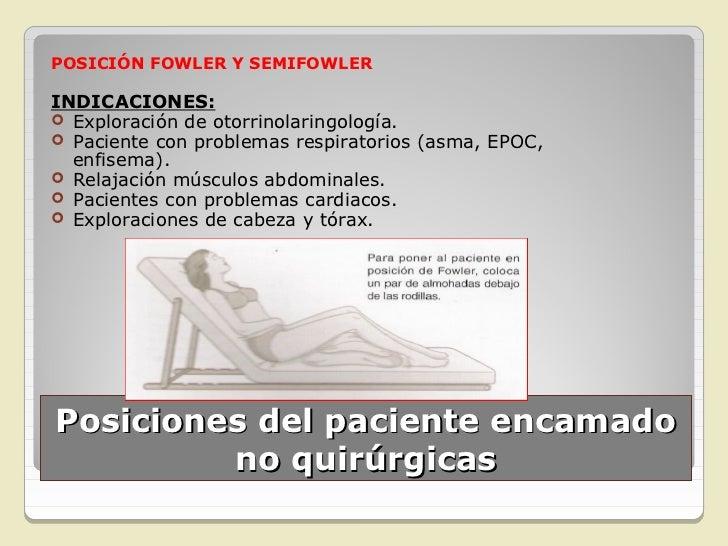 POSICIÓN SIMS,  INGLESA O  SEMIPRONAINDICACIONES: Pacientes inconscientes Colocación de sondas y  medicación rectal. Ad...