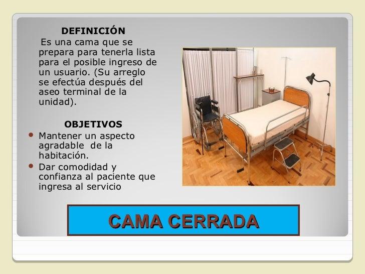CAMA CERRADA          Equipo• Cubre colchón.• 3 Sábanas.• protector (hule).• Cobija.Manta• Funda de almohada.• Almohada.•...