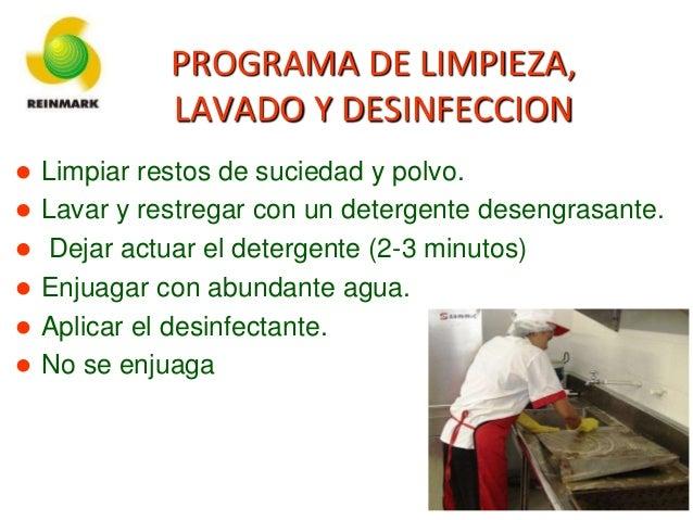 Higiene y desinfeccion de personal en planta procesadora for Limpieza y desinfeccion de alimentos