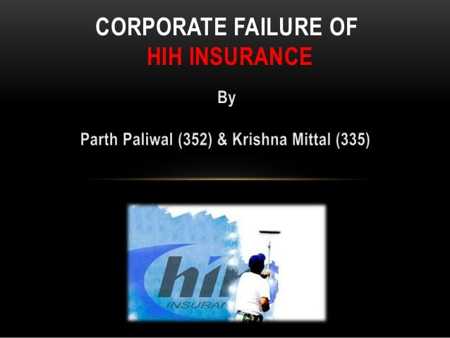 hih collapse Probably, one of the most significant contributions is the 2003 final report into the collapse of hih insurance by royal commissioner, justice neville owen.