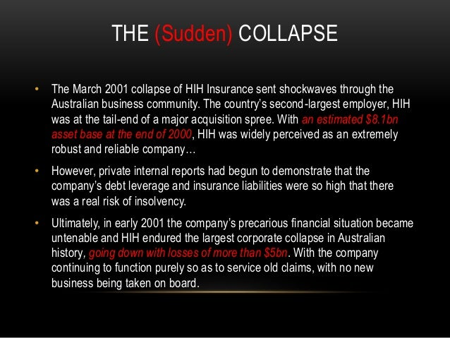 Hih insurance the failure in corporate governance