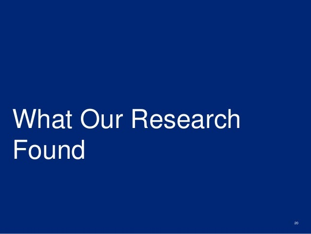 What Our Research  Found  20