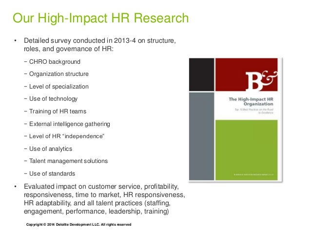 Position of influence: How HR impacts business performance