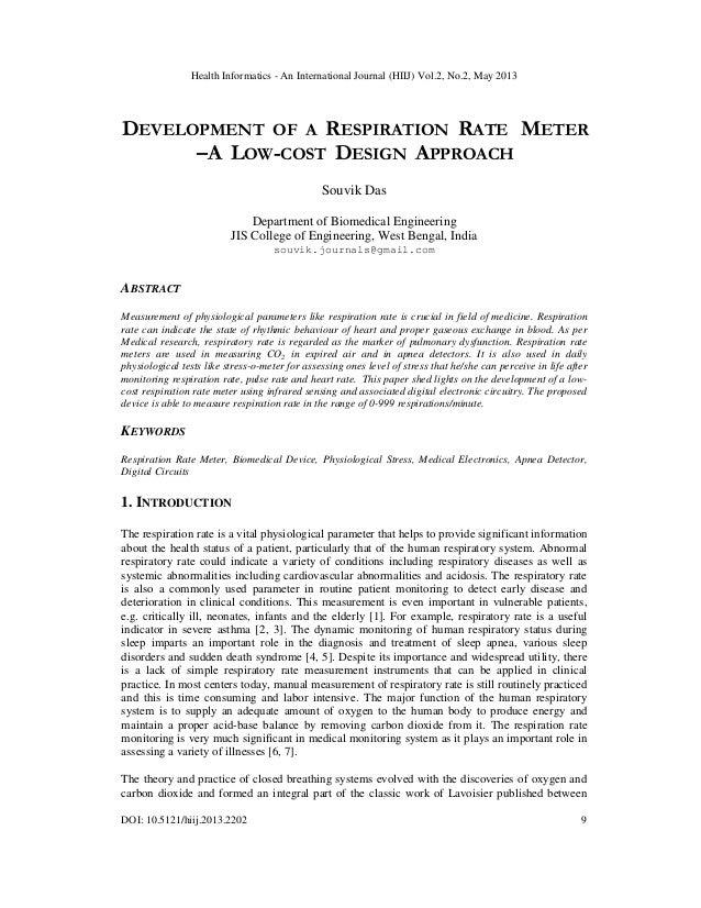 Health Informatics - An International Journal (HIIJ) Vol.2, No.2, May 2013DOI: 10.5121/hiij.2013.2202 9DEVELOPMENT OF A RE...