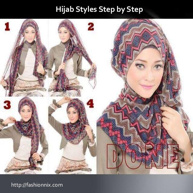 Step by step abaya styles hijab styles 2016 How to wear hijab fashion style step by step dailymotion