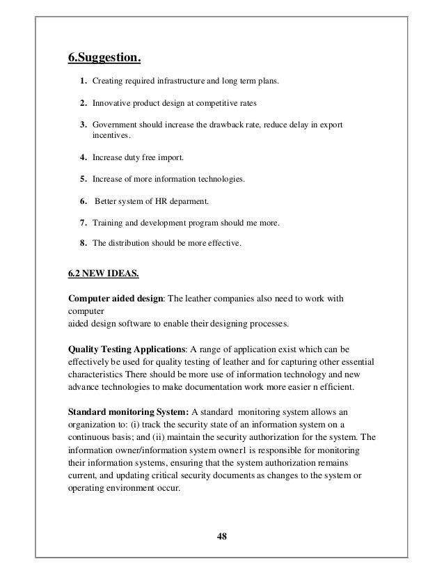 ORGANIZATION STUDY ON HIJAZ LEATHERS PVT LTD