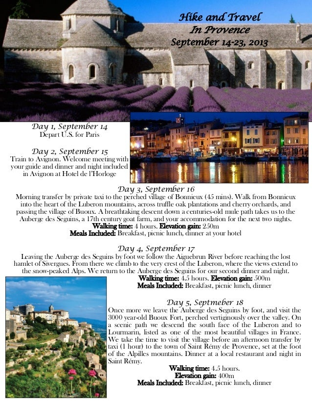 Hike and Travel                                                               In Provence                                 ...