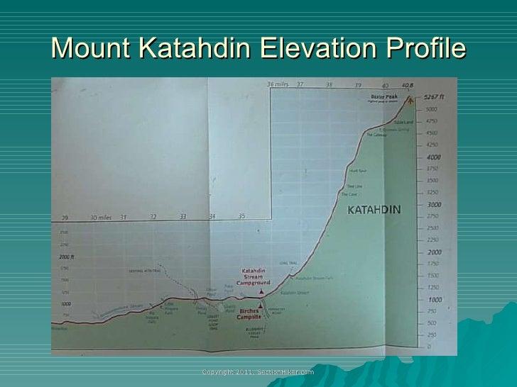 Hiking Maines Mile Wilderness - Mt katahdin trail map