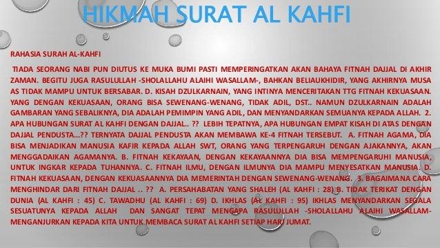 Hikmah Dari Surat Al Kahfi