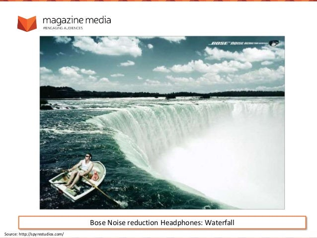 Bose Noise reduction Headphones: Waterfall Source: http://spyrestudios.com/