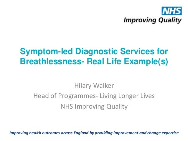 Symptom-led Diagnostic Services for Breathlessness- Real Life Example(s) Hilary Walker Head of Programmes- Living Longer L...