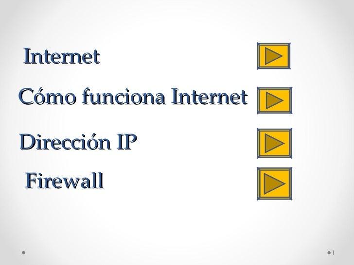 Internet Cómo funciona Internet Dirección IP Firewall