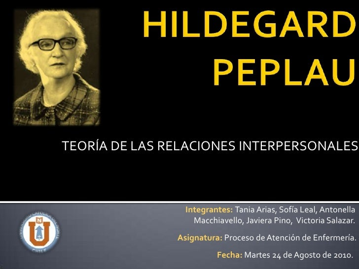 hildegard pepalau Pubmed journal articles for hildegard peplau's theory of interpersonal relations were found in prime pubmed download prime pubmed app.