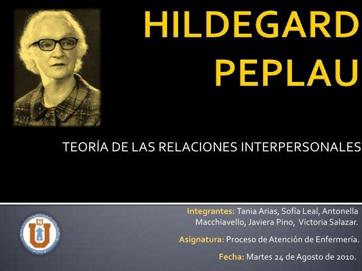 TEORÍA DE LAS RELACIONES INTERPERSONALES                 Integrantes: Tania Arias, Sofía Leal, Antonella                  ...