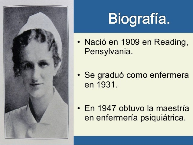 hildegard peplau Hildegard peplau, one of the role model of nursing theorist, established a theory  of interpersonal relationships in nursing her reason is the goal of the.