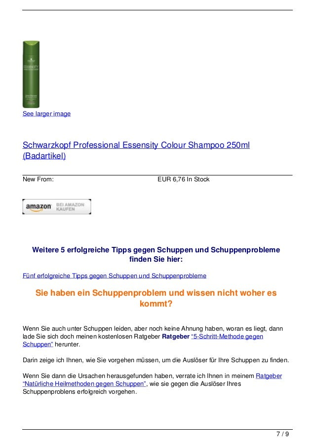 See larger imageSchwarzkopf Professional Essensity Colour Shampoo 250ml(Badartikel)New From:                              ...