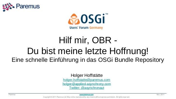 Hilf mir, OBR -               Transforming the Way          Du bist meine letzte Hoffnung!            the World Runs Appli...