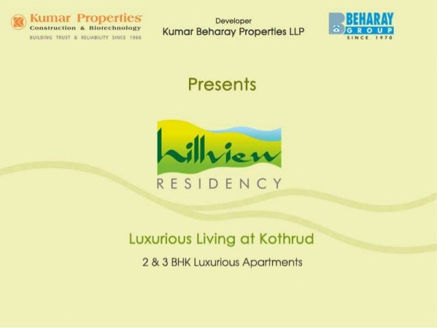 http://www.kumarworld.com/apartments-pune/Hill-View-Residency-Kothrud/ Hillview Residency 3 BHK Apartments in Kothrud Prom...