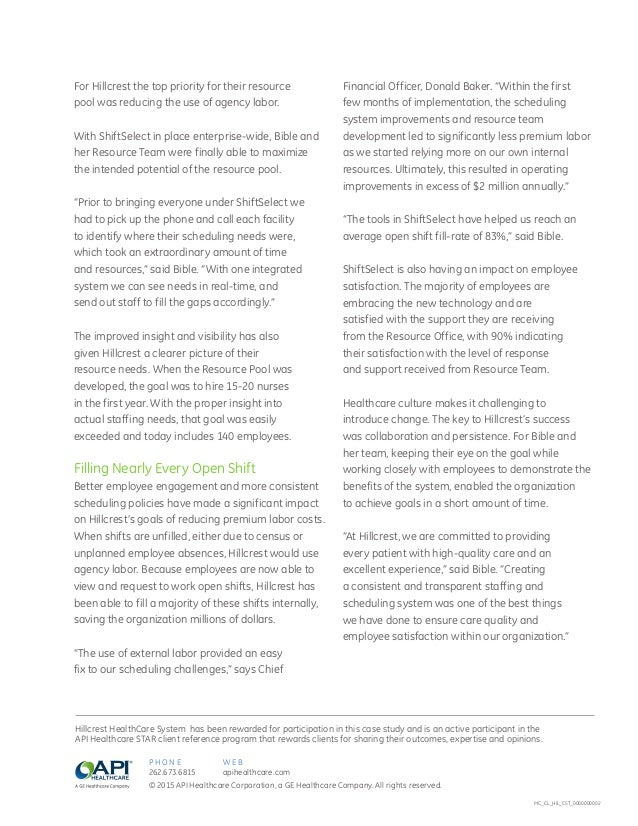 Hillcrest HealthCare System Case Study