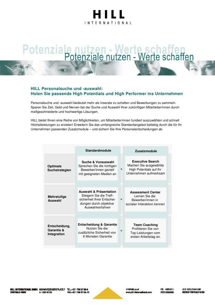 HILL Personalsuche und -auswahl: Holen Sie passende High Potentials und High Performer ins Unternehmen  Personalsuche und ...