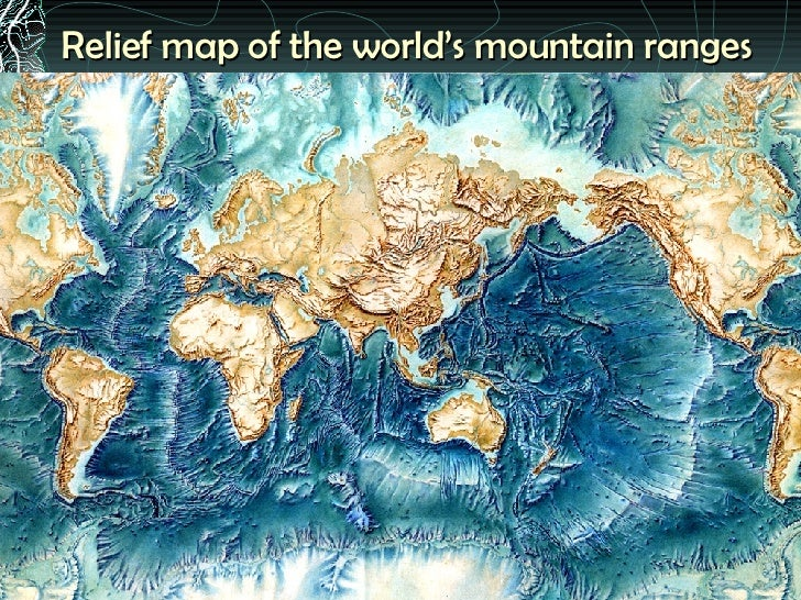 Relief Map Of The Worldu0027s Mountain Ranges ...