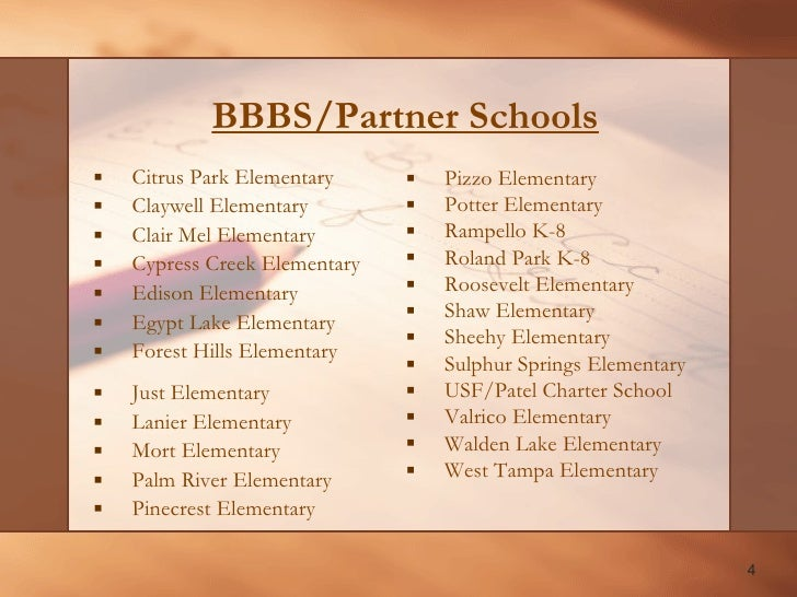 big brothers big sisters school report for pasco county