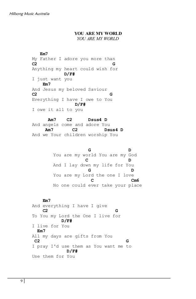 Lyric adore you lyrics : Hillsong acordes
