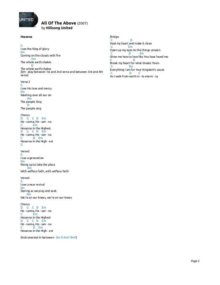 Lyric mercy mercy hillsong lyrics : Hillsong united all of the above (2007)