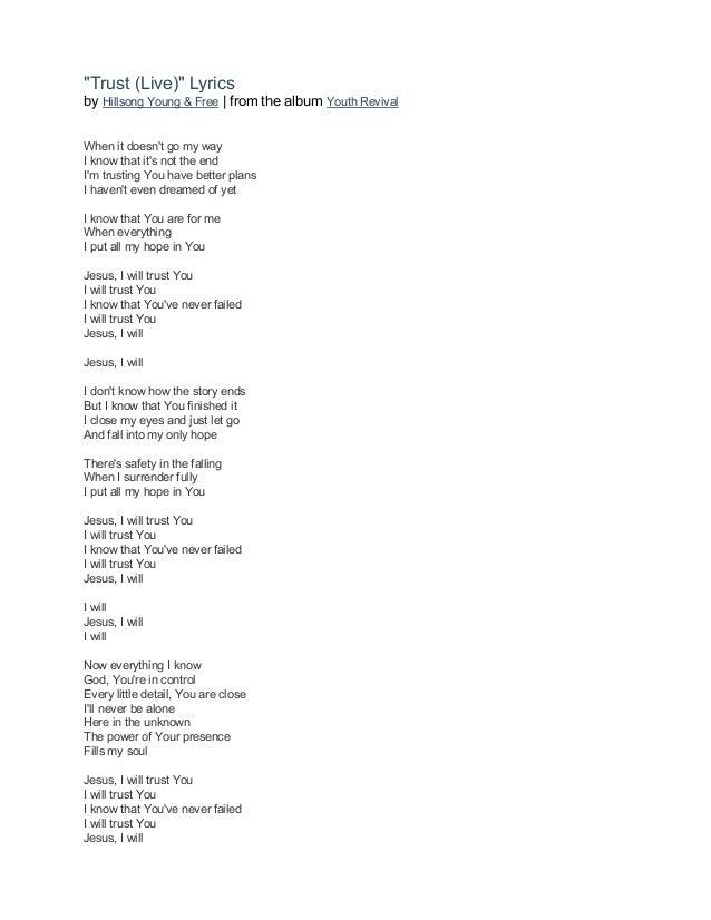 Lyric mercy mercy hillsong lyrics : Hillsong young & free youth revival (2016) lyrics book