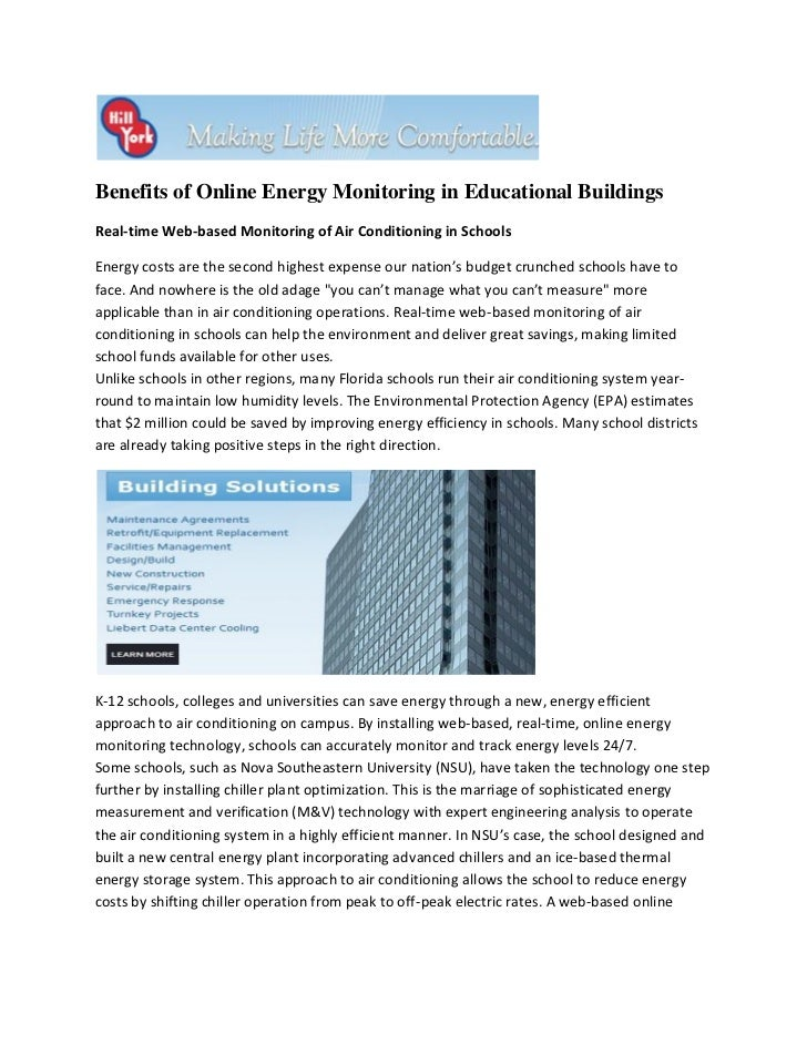 Benefits of Online Energy Monitoring in Educational BuildingsReal-time Web-based Monitoring of Air Conditioning in Schools...