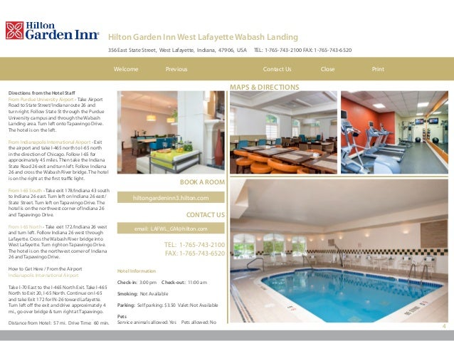 ROOMS U0026 SUITES Contact Us Close PrintNextWelcome Previous; 4. 4 Hilton  Garden Inn West Lafayette ...